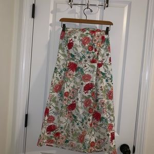 Old navy, floral, strapless dress.